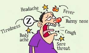 a cartoon of acute illness